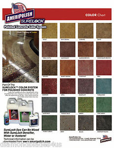 Ameripolish Surelock Concrete Dye  Polished Concrete Color System