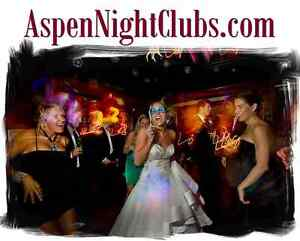Aspen Night Clubs.com Party Wedding Group Events Dance Sing Birthday New Years