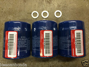 Genuine OEM Honda Oil Filter 3 Pack w Washers