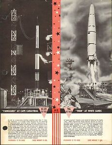 ad sheet 1442 ho scale thor space rocket models