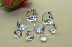 Diamonds wedding table crystal decor Favors Centerpiece Gems Bridal Party $10.12