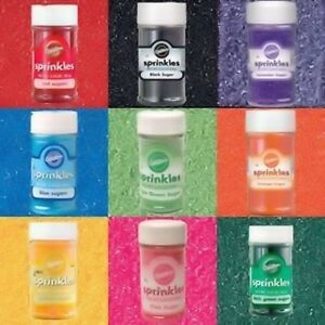 Colored Sugar 3.25oz from Wilton - 9 Colors to Choose From