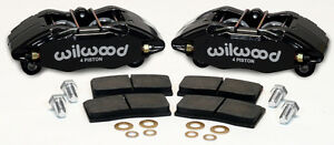 WILWOOD DPHA BRAKE CALIPER & PAD SETFRONT STOCK REPLACEMENTHONDAACURABLACK