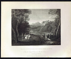 Prince Giustiniani returned from hunting National Gallery 1836 Steel Engraving