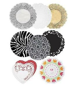 10 12 or 14 inch Doilies Wilton Choose the color you want Round or Heart