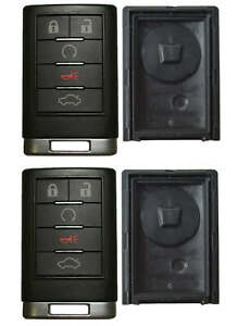 2 Case for Cadillac Remote Keyless Entry Key Fob FCC ID OUC6000066 5 Button $21.99