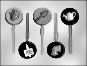 Gardening Tools Chocolate Candy Lollipop Mold from CK #13625 - NEW