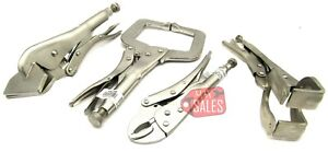 4 Pieces Locking Welding Clamp Set Cutting Tightening Clamping Tools Steel New