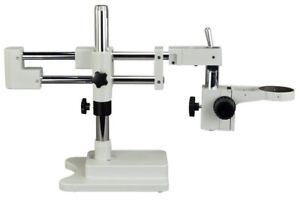 OMAX Double Arm Stereo Microscope Boom Stand Heavy Duty w Focusing Racking 76mm $226.99