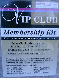 Anita Goodesign VIP Club Starter Kit With Over 2000 Designs & More! **NEW**