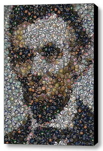 Amazing Framed Abe Lincoln Political Button mosaic print Limited Edition w COA $18.99
