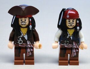 x2 NEW Lego Jack Sparrow Minifigs Pirates of the Caribbean 4195 4194 4183 $7.79