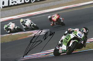 Scott Redding Hand Signed GO&FUN Honda Gresini 12x8 Photo 2014 MotoGP.