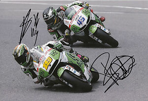 Redding and Bautista Hand Signed GO&FUN Honda Gresini 12x8 Photo 2014 MotoGP.