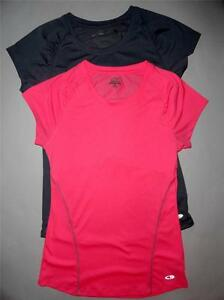 Pink Gray Champion Athletic Semi Fitted SportsTop Shirts Set SM Womens