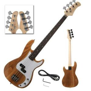 New Professional Wood Color 4 String Electric Bass Guitar