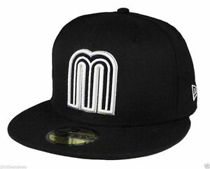 New Era 59Fifty Cap World Baseball Classic Style Mexico Fitted Hat Black White $47.00