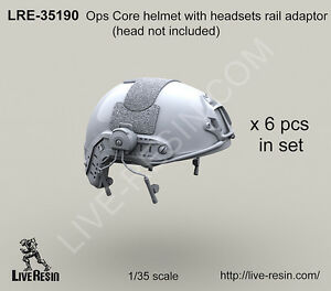 Live Resin 135 Ops Core Helmet Set with Headsets Rail Adaptor without Head 6pcs