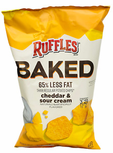 Ruffles Oven Baked Cheddar Sour Cream Flavored Potato Chips 6.25 oz