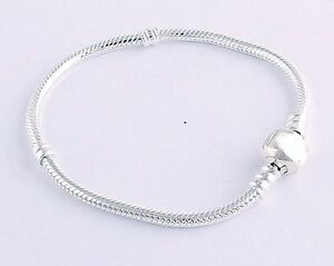 925 Sterling Silver Classic Barrel Clasp European Charm Bracelet  21 22 or 23cm