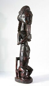 Baule Baoule wooden figure Asye Usu statue exceptional quality 64cm 25 inch
