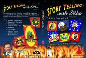 STORY TELLING WITH SILKS DVD Tips Kid Show Scarf Magic Trick Clown Paper Sleeve $8.95