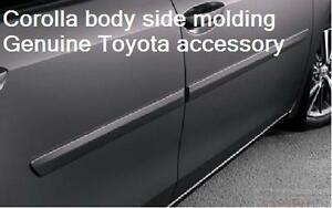 2014-19 TOYOTA COROLLA PAINTED 209 BLACK SAND BODY SIDE MOLDING PT938-02140-02