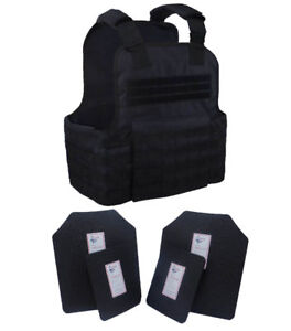 Tactical Scorpion Gear 4 Pc Level III AR500 Body Armor Plates Molle Vest Set-up