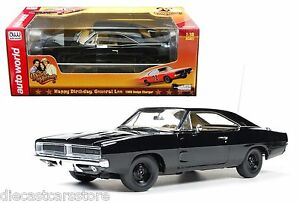 1969 dodge charger black happy birthday 1 18 by