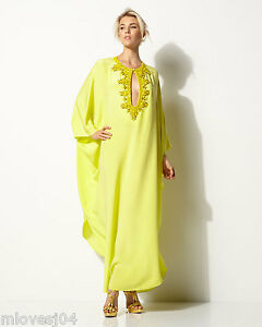EMILIO PUCCI Embellished Silk Long Cady Kaftan Dress New BNWT Onesize UK 8-12