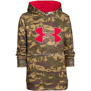 Under Armour Youth Storm Caliber Hoodie Deer Hide Medium