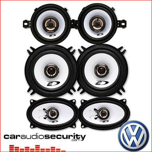 VW Golf Mk2 II 1983 1995 Complete Coaxial Car Speakers Upgrade Kit