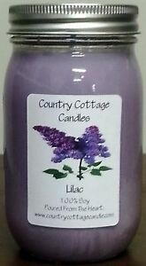 16 oz Hand Poured Soy Candle Lilac.FREE SHIPPING