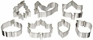 NEW R & M Autumn Leaf 7 Piece Cookie Cutter Set FREE SHIPPING