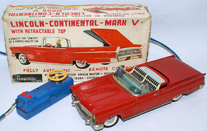 tin battery op remote lincoln contental mark v by