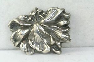 VICTORIAN AT NOUVEAU ANTIQUE STERLING SILVER FLOWER PIN $87.50