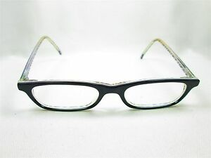 Jean Lafont Paris France Black Designer Eyeglass Frames Glasses