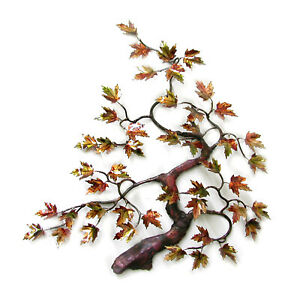WALL ART - AUTUMNAL MAPLE TREE METAL WALL SCULPTURE - NATURE INSPIRED WALL DECOR $550.00