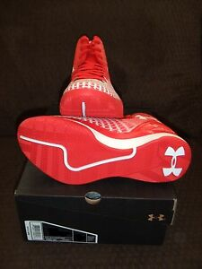 NEW Under Armour UNISEX Clutchfit Drive Basketball Shoes 1246931-600 Red White
