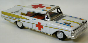 vintage 1950 s tin litho friction ambulance