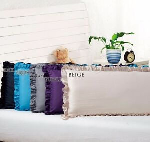 Body Pillow Ruffled Solid Cover Case Decorative 20quot;x54quot;2 8 Colors $9.99