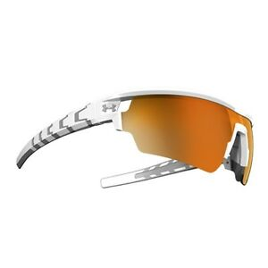 Under Armour Phenom Sunglasses Satin White Frame Orange Mirror UA8600054-110941