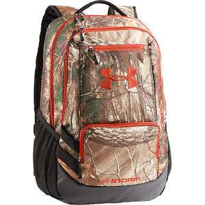 Under Armour Hustle Camo Backpack 18x12x8in APX