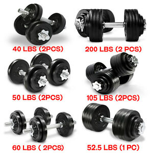 Yes4All Adjustable Dumbbell Weight Set for Fitness 40 to 200 lbs (Sold in Pair)