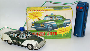 vintage tin battery op remote controlled