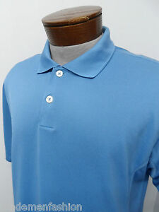 ADIDAS CLIMACOOL POLO SHIRT sz M mens blue dry dri fit ^491