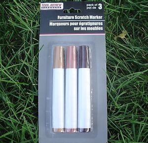 Wood Furniture Scratch Markers Touch Up Repair. Blend 3 Shades To Match Wood NEW