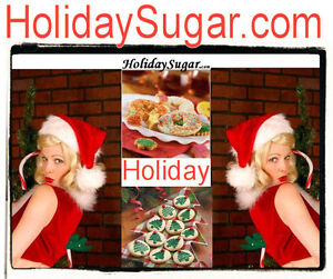 Holiday Sugar.com Cookies Candy Girls Canes Bars Sweets Domain Name URL Website
