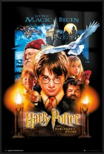HARRY POTTER AND THE SORCERER'S STONE - FRAMED MOVIE POSTER (US REGULAR STYLE)