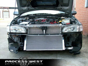 PROCESS WEST V-Mount FRONT INTERCOOLER Cooling System Fit SUBARU MY97-00 WRXSTi